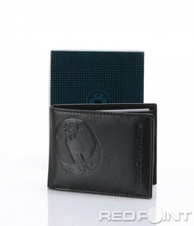 Черно портмоне с гравирано лого 6997