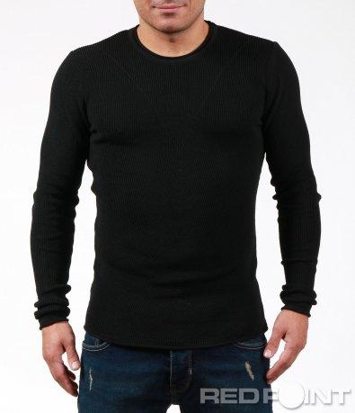 Ефектна блуза тип плетиво 7006