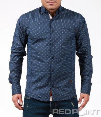 Спортно-елегантна риза с орнаменти 7007