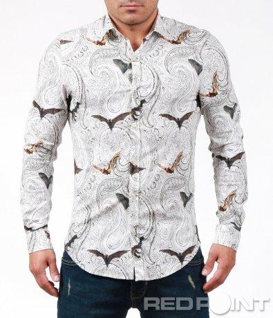 Екстравагантна риза с прилепи 7012