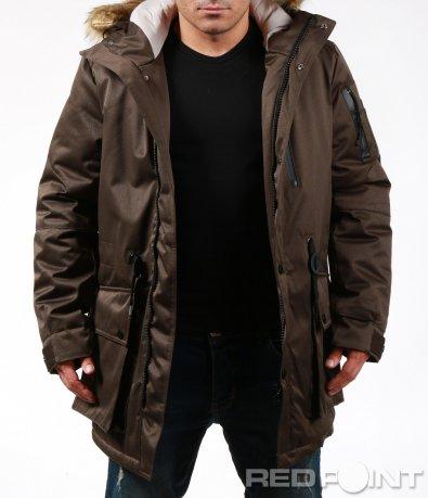 Зимно яке longfit с карго джобове 7014