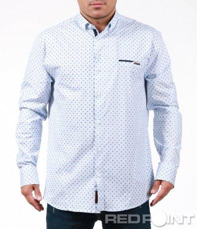 Модерна риза с фигури и акценти 7011