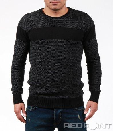 Мъжки пуловер тип фино плетиво 7029