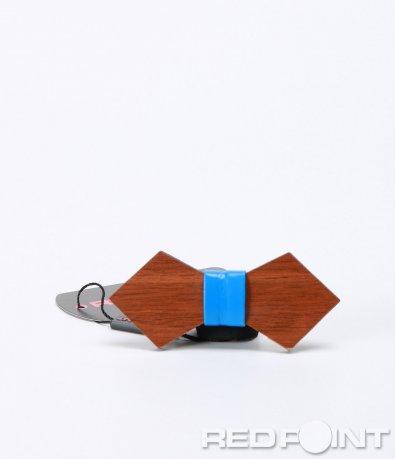 Дървена ромбоидна папионка 7037