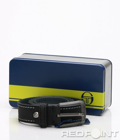 Черен стилен колан в кутия 7080