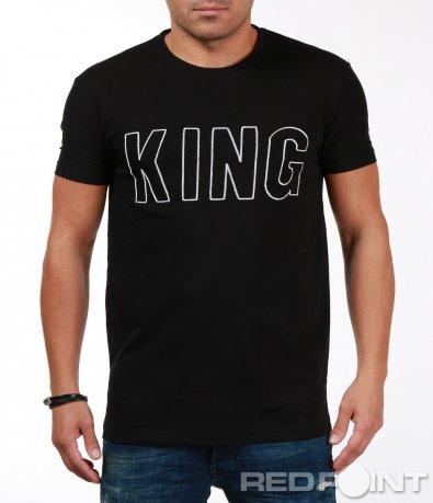 Черна памучна тениска 7088