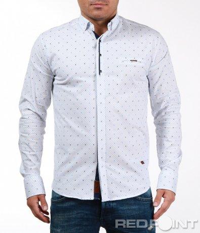 Спортно-елегантна риза с орнамент 7096