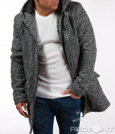 Зимно сиво палто 7097