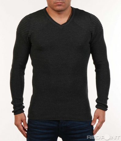 Еластична блуза тип плетиво 7121