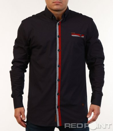 Риза с цветни кантове 7129
