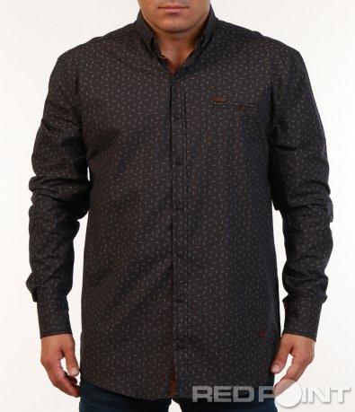 Спортно-елегантна риза с орнаменти 7130