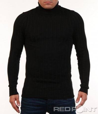 Изчистена блуза тип поло 7133