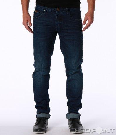 Тъмно син дънков панталон 7144