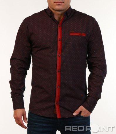 Тъмна риза с орнаменти 7145