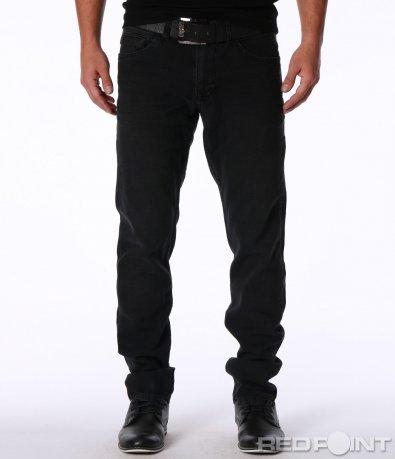 Класически черни дънки с колан 7132