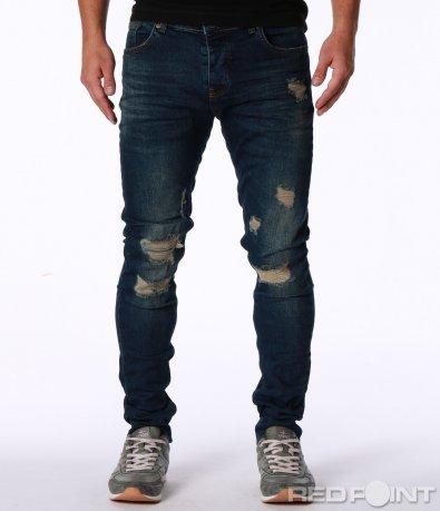 Skinny дънки с кръпки 7139