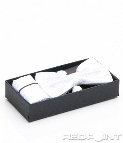 Комплект папионка с кърпичка и ръкавели 7169