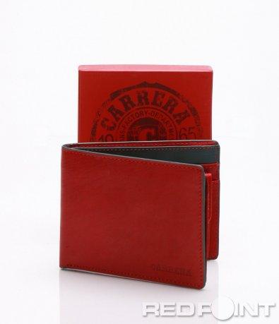 Червен портфейл с лого 7176