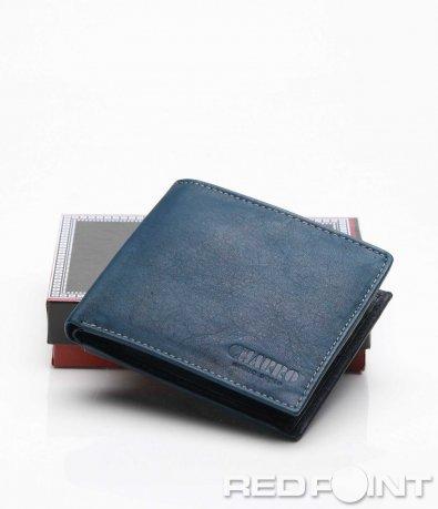 Тъмно син кожен портфейл 7191