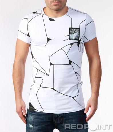 Разчупена тениска с холограма 7204