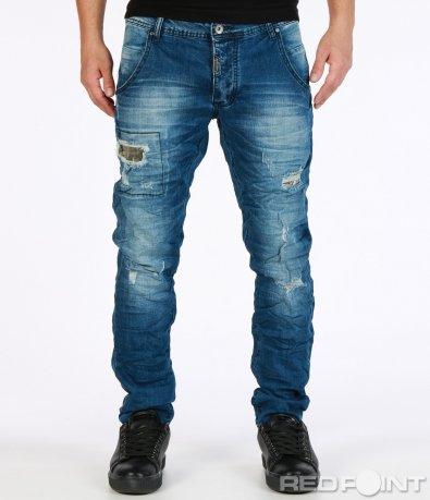Сини дънки с кръпки 7220