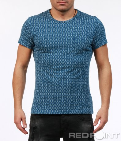 Вталена тениска с орнаменти 7246