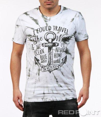 Цветна тениска с апликация 7247