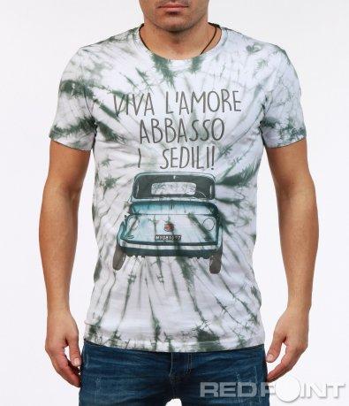 Свежа тениска с щампа 7248