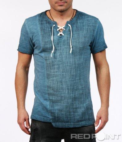 Нетипична тениска в син цвят 7255