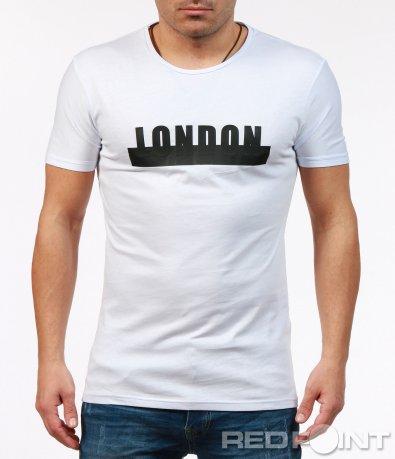 Класическа тениска с надпис 7257