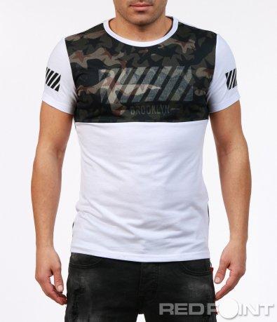 Екстравагантна тениска с къс ръкав 7242