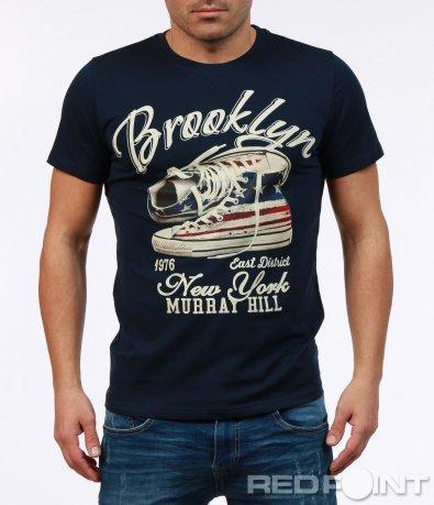 Ефектна тениска с апликация 7243