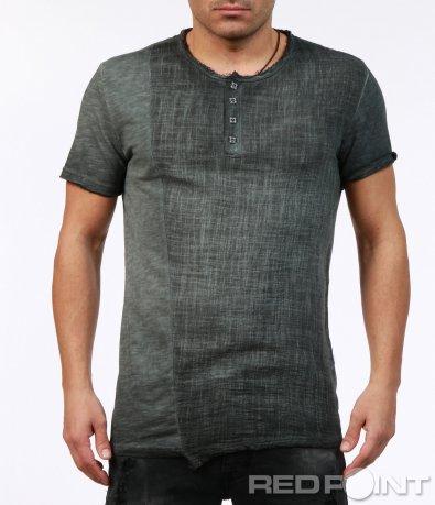 Vintage тениска в сив цвят 7262