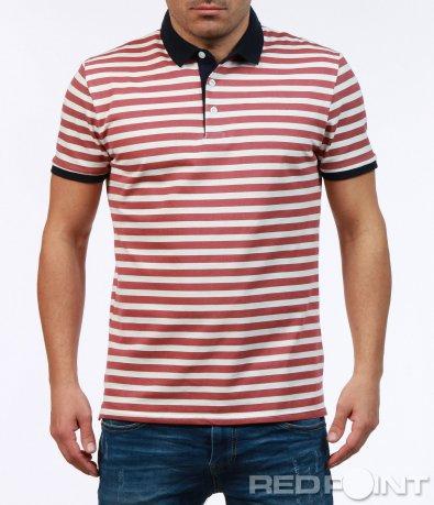 Тениска с къс ръкав и яка 7263