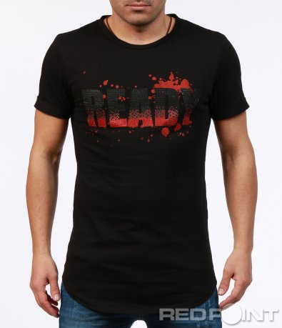 Вталена тениска с надпис 7267