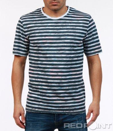 Семпла мъжка тениска с къс ръкав 7269