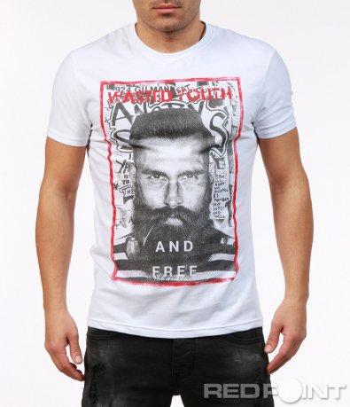 Тениска с къс ръкав и щампа 7272