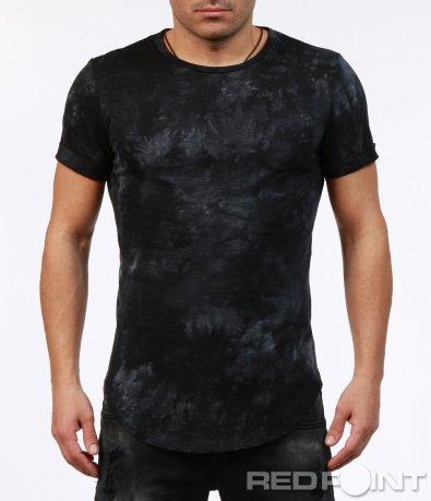Ефектна издължена тениска 7273