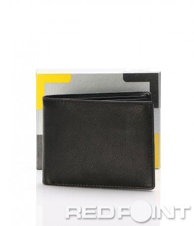 Изчистен кожен портфейл 7286