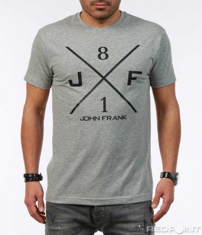 Еднотонна тениска с щампа 7291