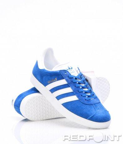 Спортни сини обувки с бял елемент Adidas 7324