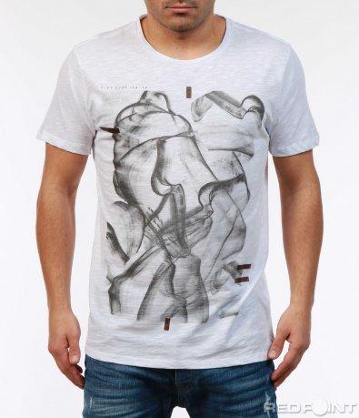 Авангардна тениска с щампа 7349