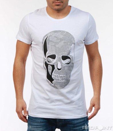 Черна тениска с череп 7381