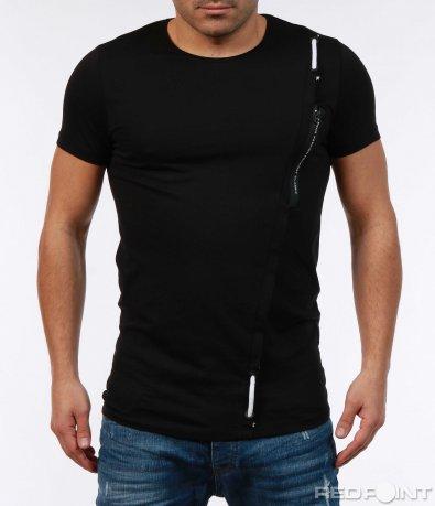Черна клубна тениска 7385