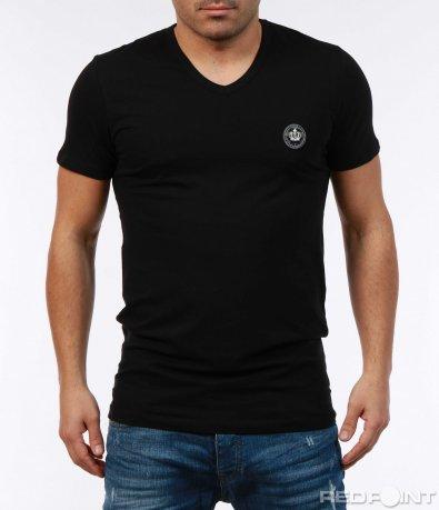 Тениска в еднотонен десен 7387