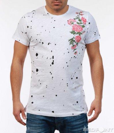 Ефектна тениска с апликация 7395
