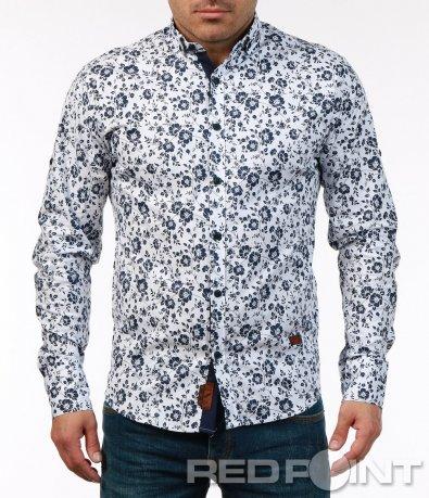 Цветна флорална риза 7450