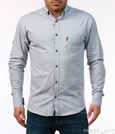 Еднотонна ежедневна риза 7435
