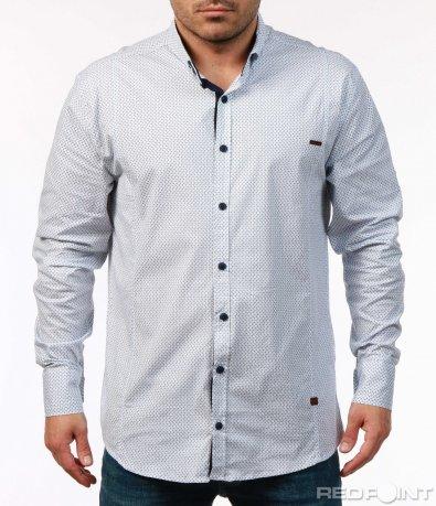 Спортно-елегантна риза с орнаменти 7440