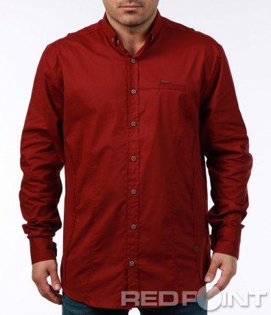 Стилна риза с квадратни копчета 7442